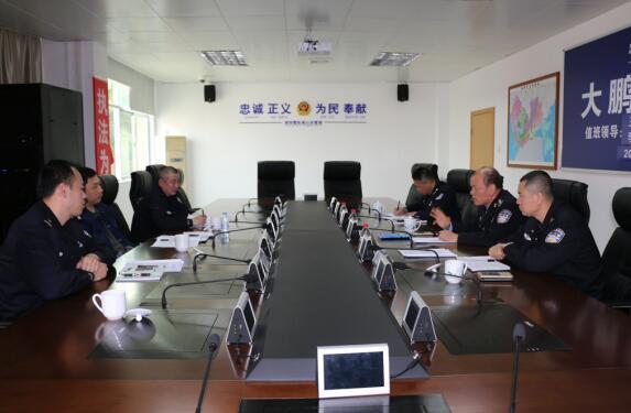消防总队领导到大鹏分局调研消防安全