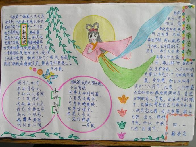 【中秋节的手抄报】关于中秋节的手抄报 关于中秋节的