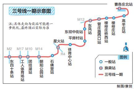 地铁3号线一期全面开工 预计2021年通车