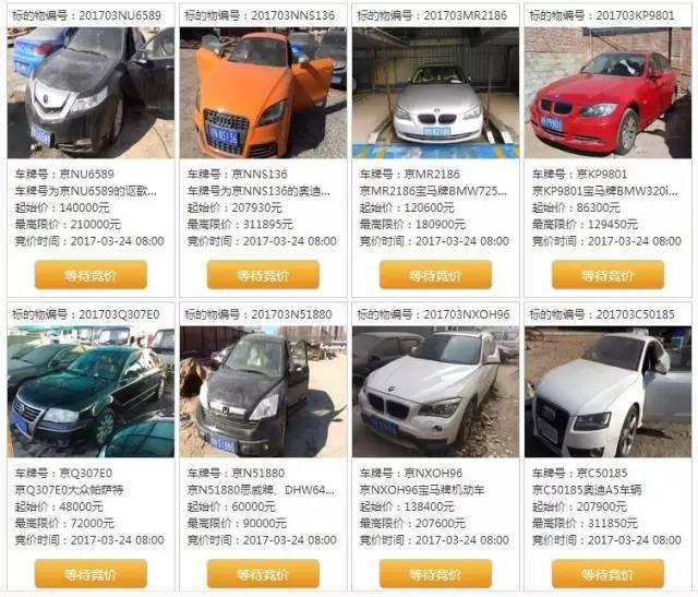 2018第一期京牌小客车拍卖时间地点价格车型及操作流程