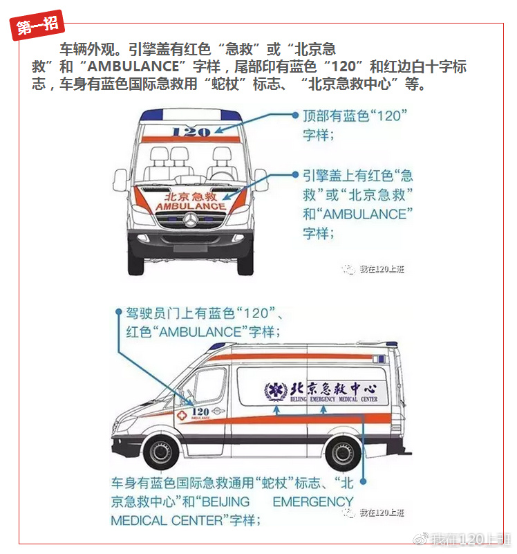 """如何辨别救护车真假?教您""""五招""""让假救护车无处遁形"""