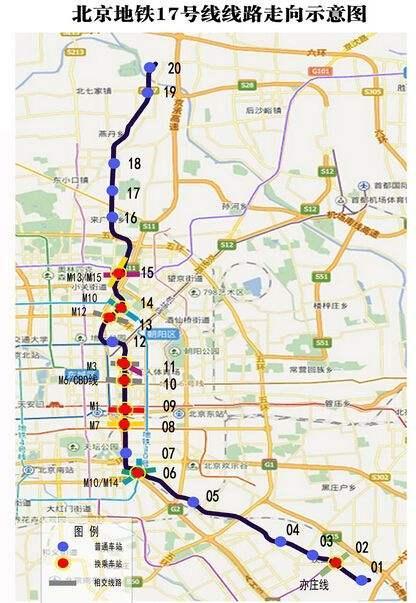 北京地铁17号线开建 穿越昌平、朝阳、东城、通州