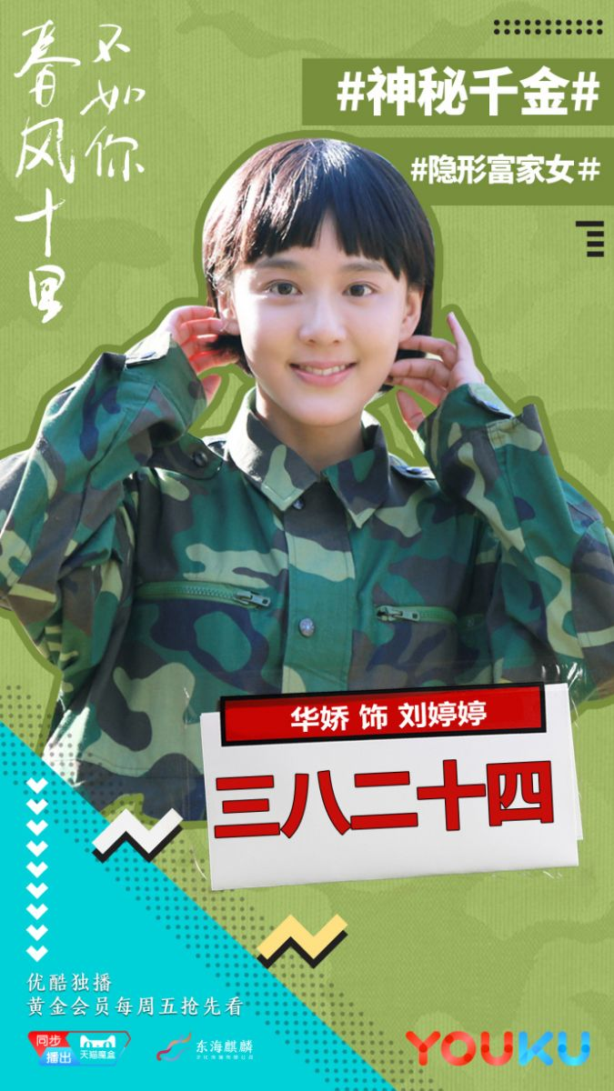 《春风十里不如你》演员表:刘婷婷(主角) 演员:华娇