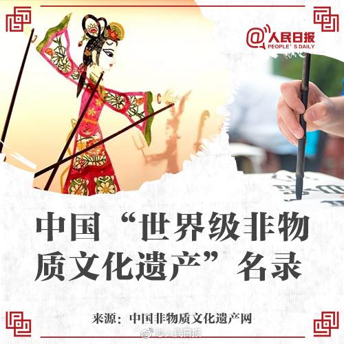 最新中国世界级非物质文化