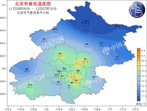 北京今晨气温再创新低 双休日空气质量将转差