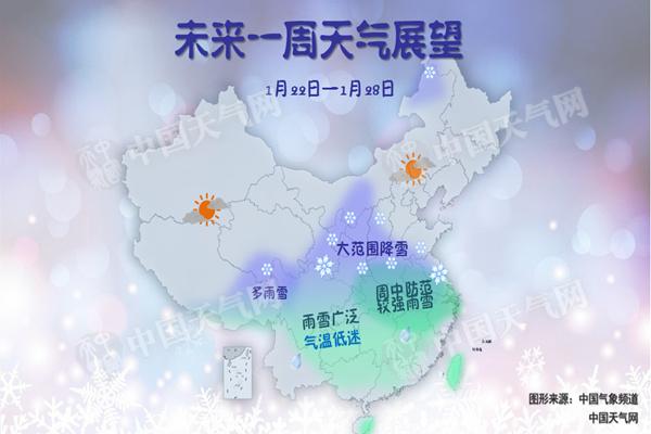 本周中东部进入今冬最冷时段 大范围雨雪上线