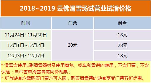 2018-2019北京云佛山滑雪场开放时间 价格 游玩攻略