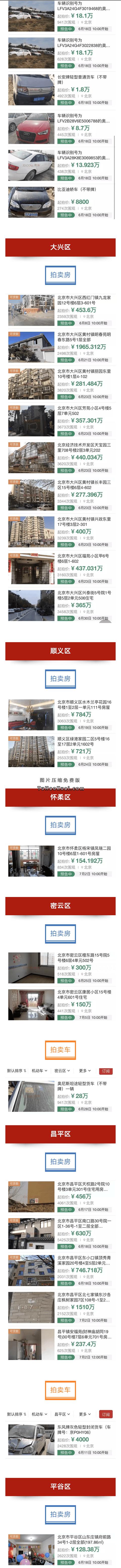 2018北京司法拍卖房产汽车(时间+流程+竞拍入口)