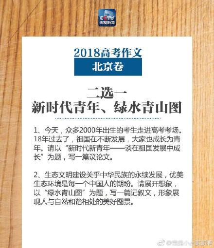 2018年北京高考作文题目出炉 盘点历年北京高考作文题目