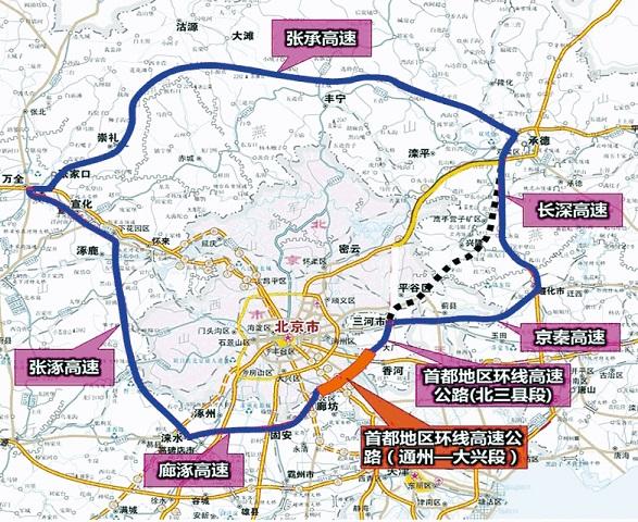 北京七环地图全图大图 北京七环最新规划图