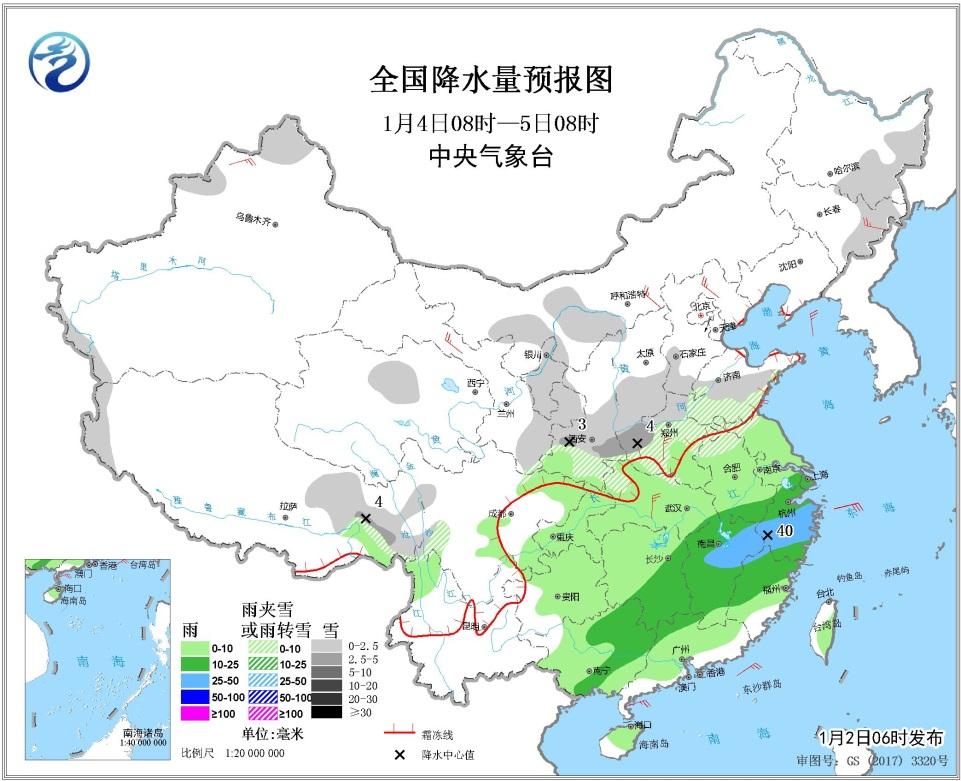 1月2日未来三天全国天气预报:华北黄淮汾渭平原等地有霾