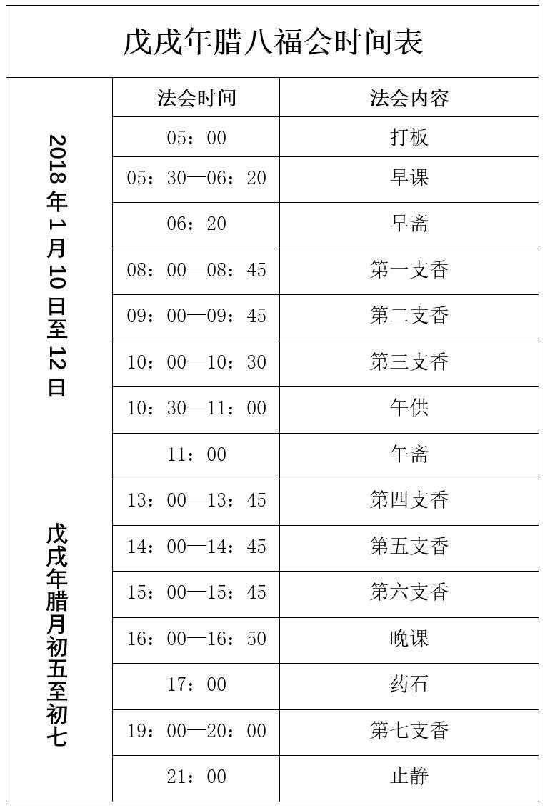 2019北京圣泉寺腊八节施粥时间及腊八法会内容一览