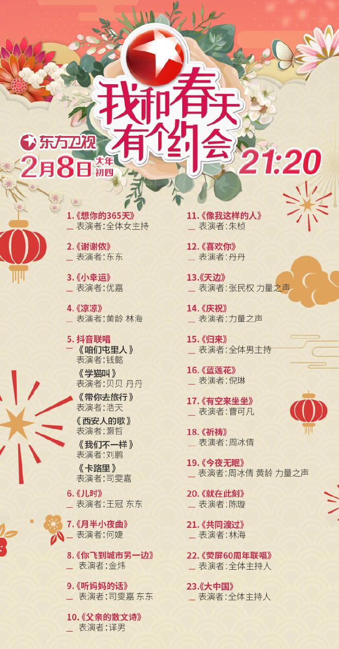 2019東方衛視春晚節目單一覽- 北京本地寶圖片