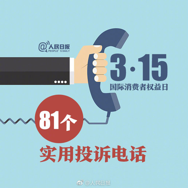 315消费维权81个实用投诉举报电话