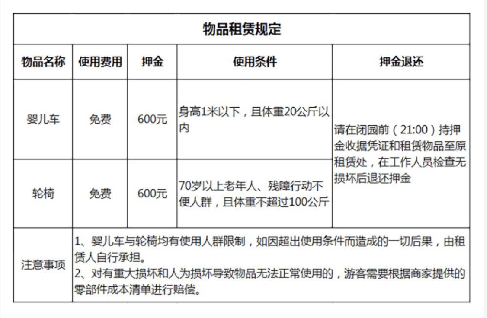 2019北京世园会物品租赁服务时间及收费标准
