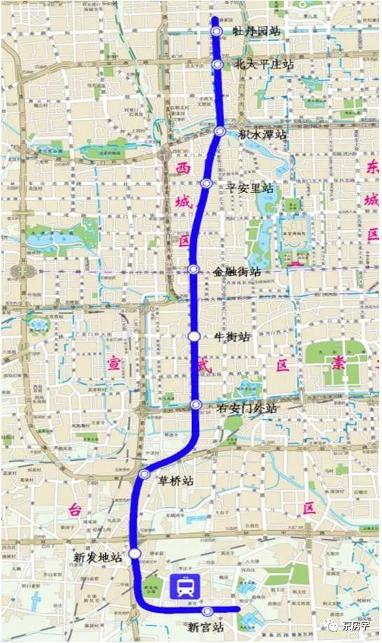 北京地铁19号线最新进展 一站换乘4条地铁!