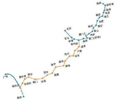 动车:福州南到深圳北,最快5小时08分