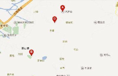 温州大罗山地图【大全】-【大图】温州大罗山地图-大