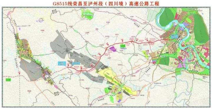 泸渝高速泸州段2019年底通车 双向四车道高速公路