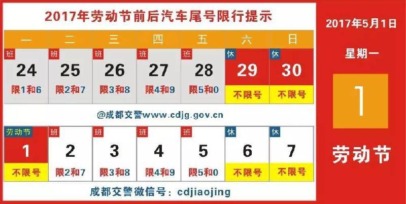 2017四川高速五一限行车辆及时间