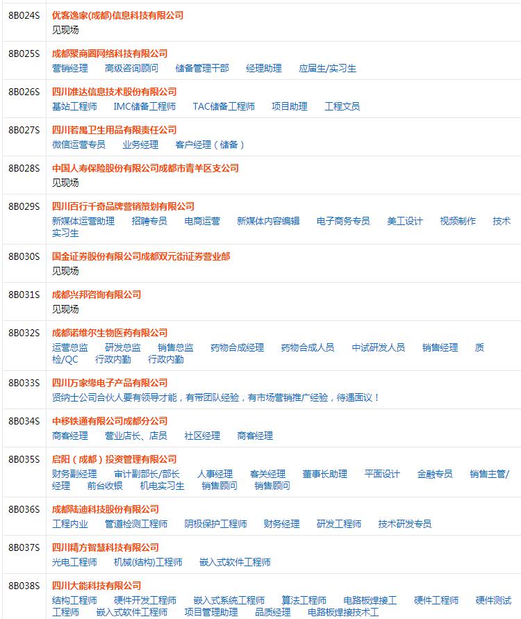 2018成都冬季特大型招聘会(时间 地点 职位)
