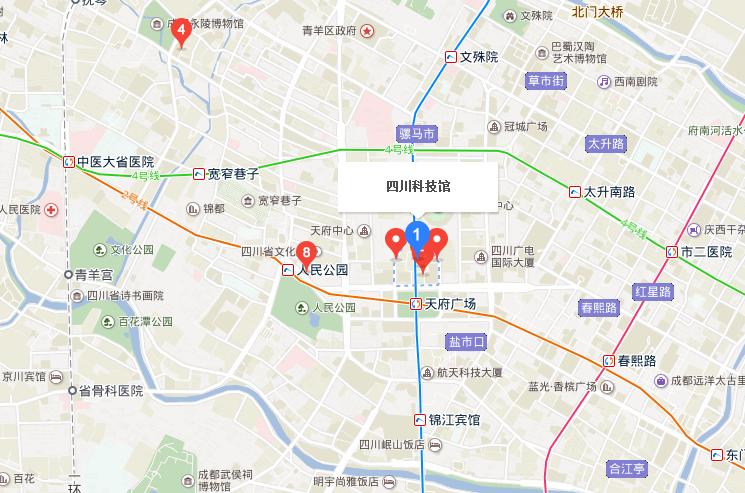 四川科技馆交通指南