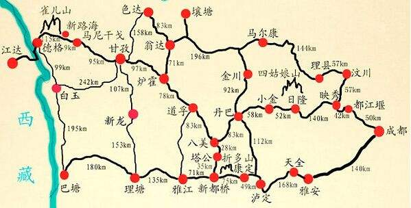 成都到川西自助游攻略(地图+路线+景点)