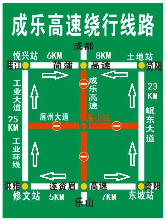 6月14日成乐高速扩容交通管制 附绕行线路