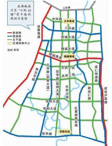 成自泸高速入城段改造工程获批复 中心城区连接华阳兴隆仁寿