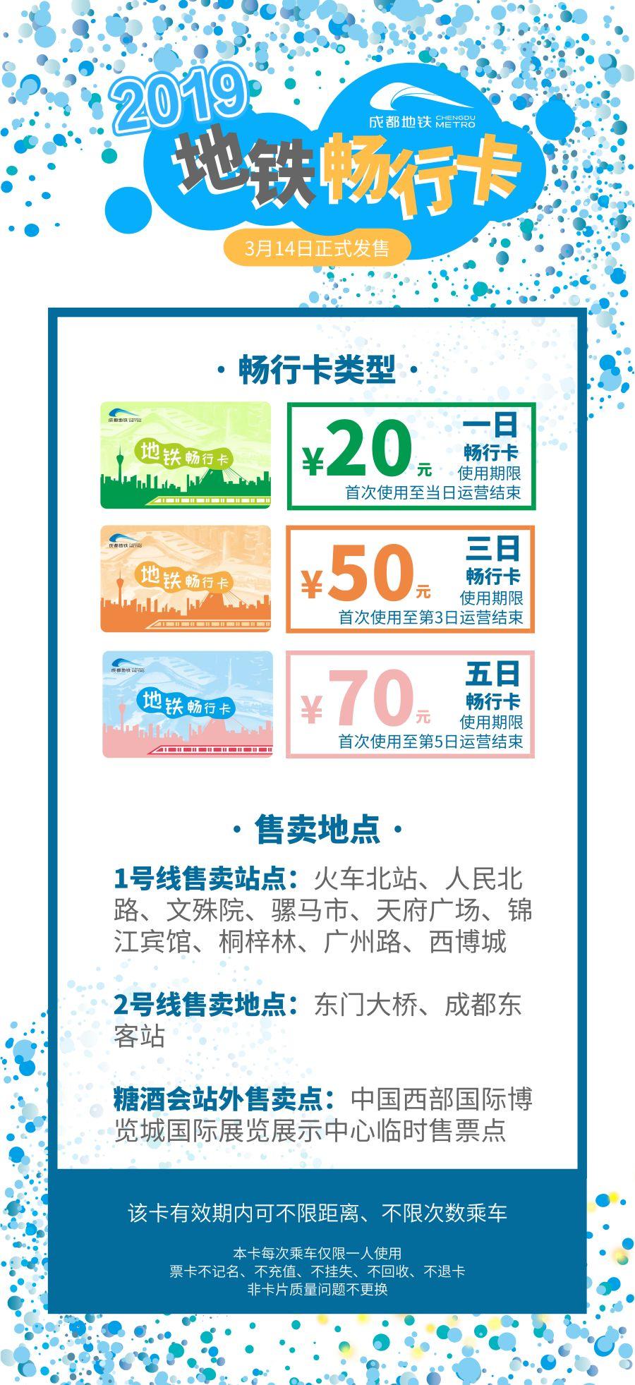 2019成都糖酒会地铁畅行卡购买指南