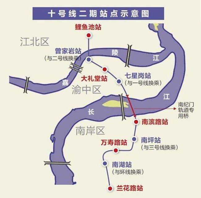 重庆交通 重庆地铁 重庆地铁10号线 > 重庆轻轨10号线二期站点设置
