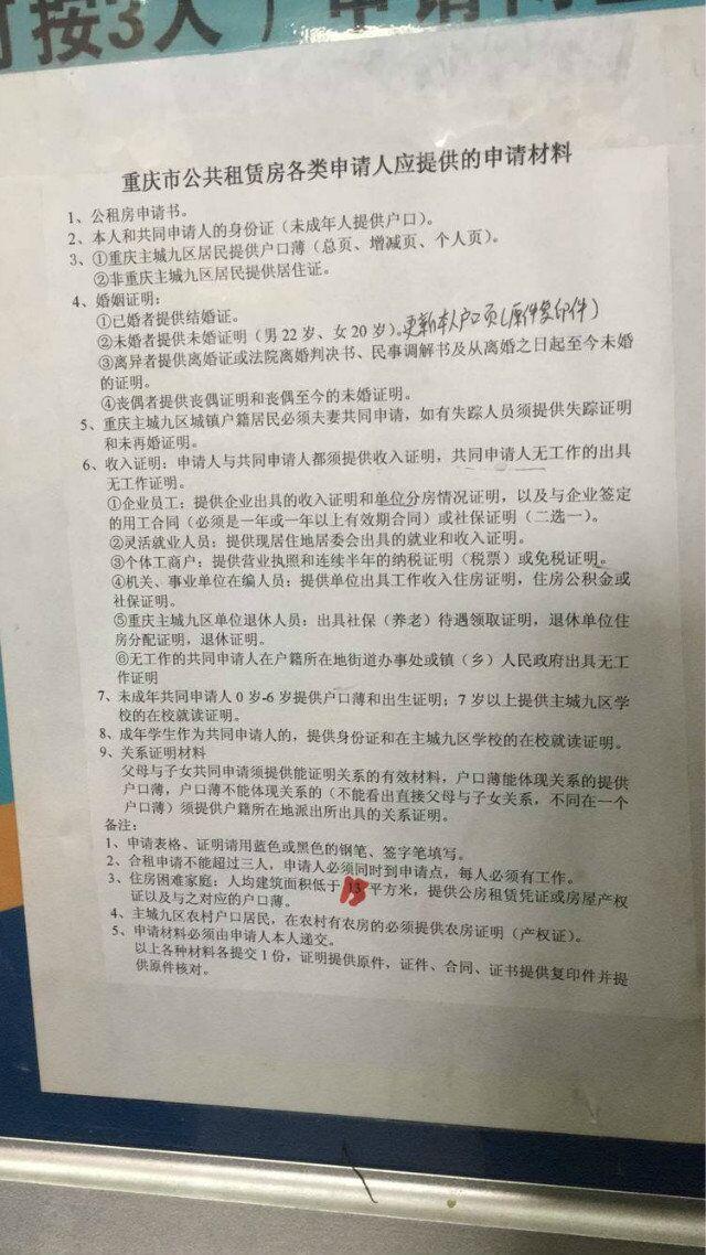 重庆新推四个公租房项目 今日起接受市民申请