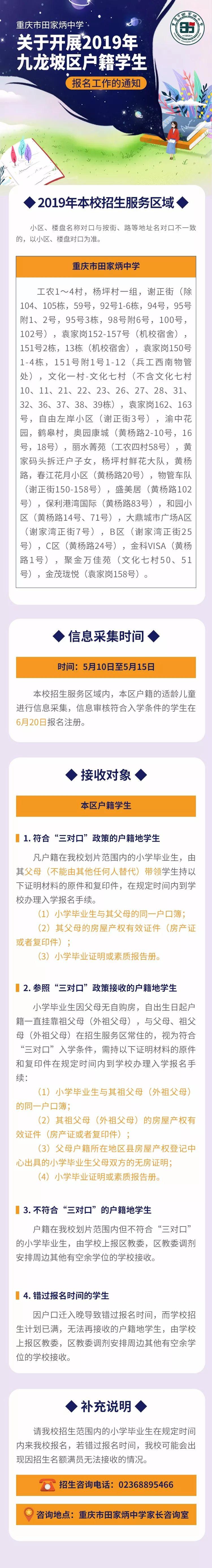 2019九龙坡红光中学入学划片范围