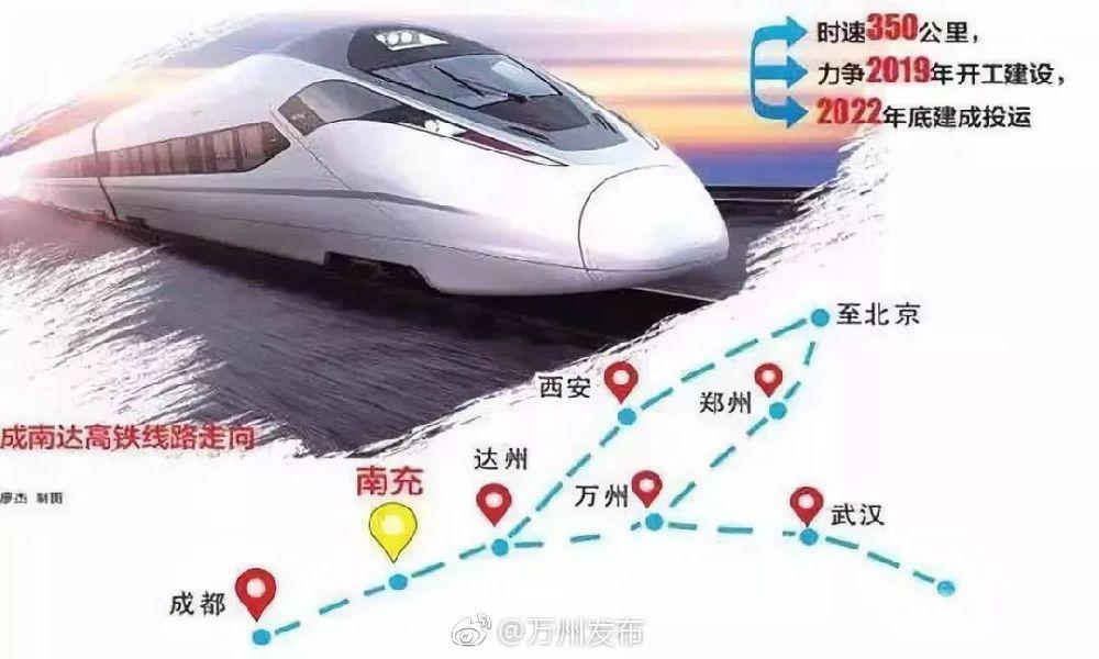 重庆成南达万高铁开工时间