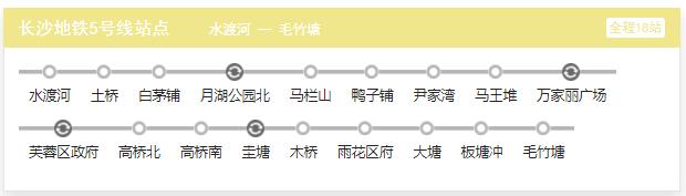 长沙地铁5号线最新消息(站点 线路图 开通时间)