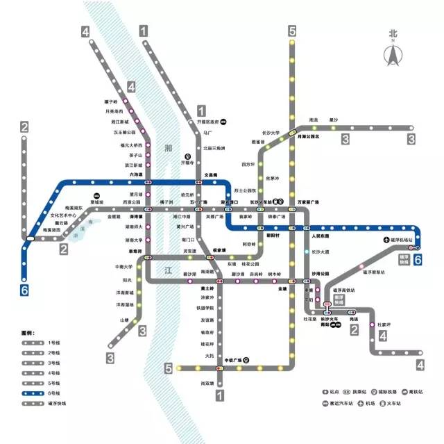 长沙地铁6号线线路图及最新施工进展