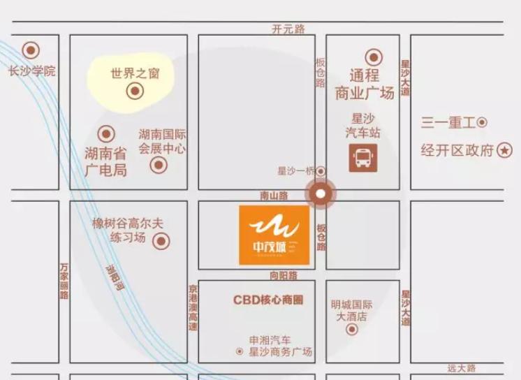 长沙中茂城购物中心地址在哪?怎么去?