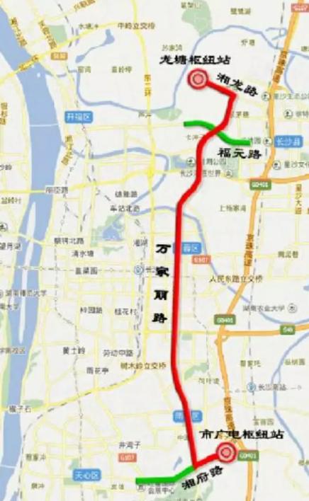 长沙万家丽BRT快速公交计划2019年3月使用