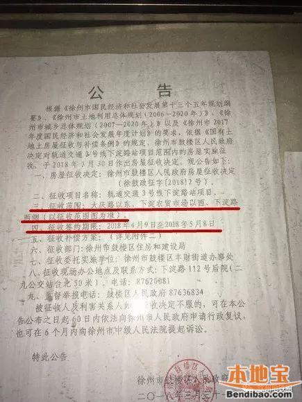2018徐州房屋征收最新消息