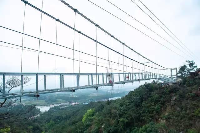 东莞周边也有一条玻璃桥 清远牛鱼嘴玻璃桥2