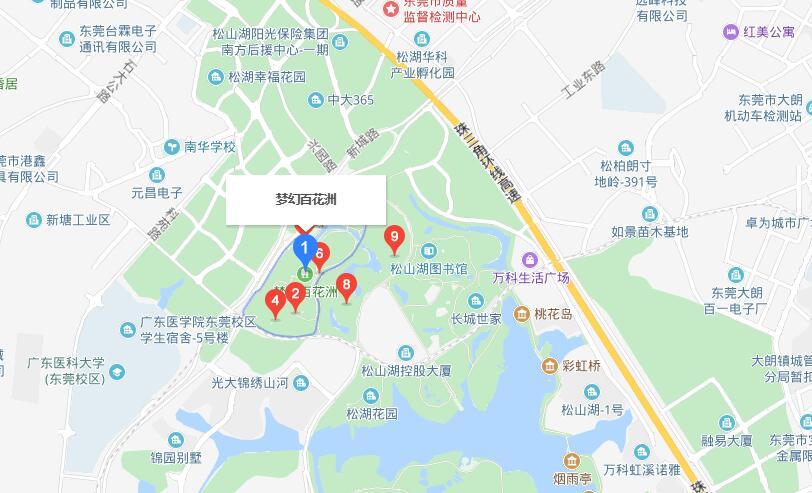 东莞梦幻百花洲怎么走(详细地址+交通指南)