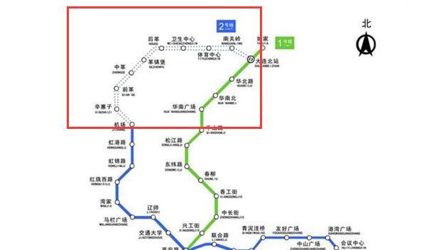 大连地铁2号线什么时候开通到北站?通车北站时间出炉