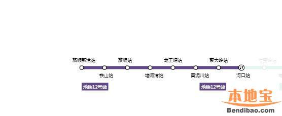 2017大连地铁12号线最新消息(线路图+时刻表+站点+票价)