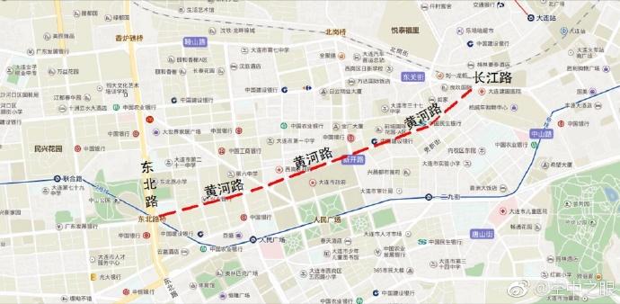 9月1日起长江路及黄河路将进行半幅封闭施工 过往车辆可绕道通行