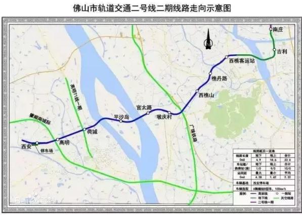 佛山地铁2号线线路图(最新)