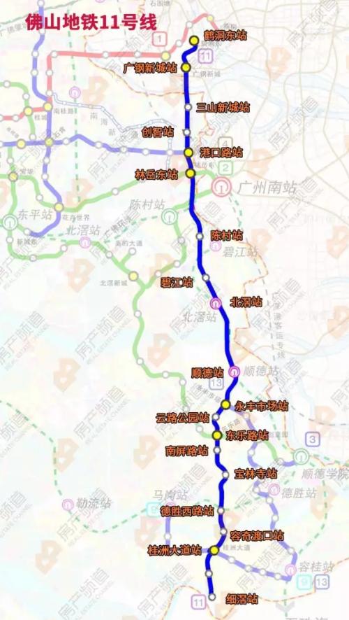 佛山地铁11号线线路图