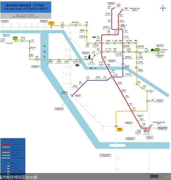福州地铁线路规划(附2030年地铁线路规划图)图片