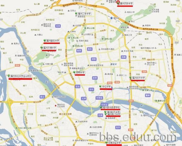 地地址_福州私立中学地址位置分布图