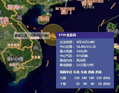 2017第19号台风路径图(持续更新哟~)