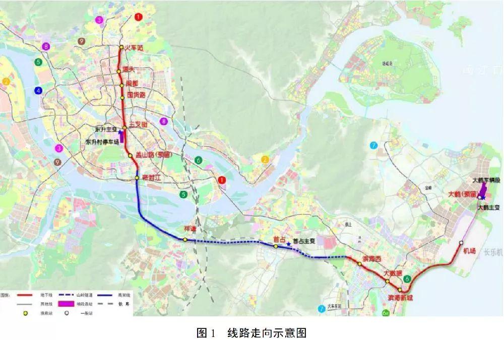 2018福州滨海快线站点分布 线路图